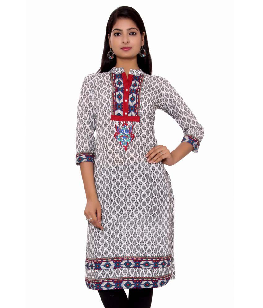 Adesa Grey Cotton Kurti