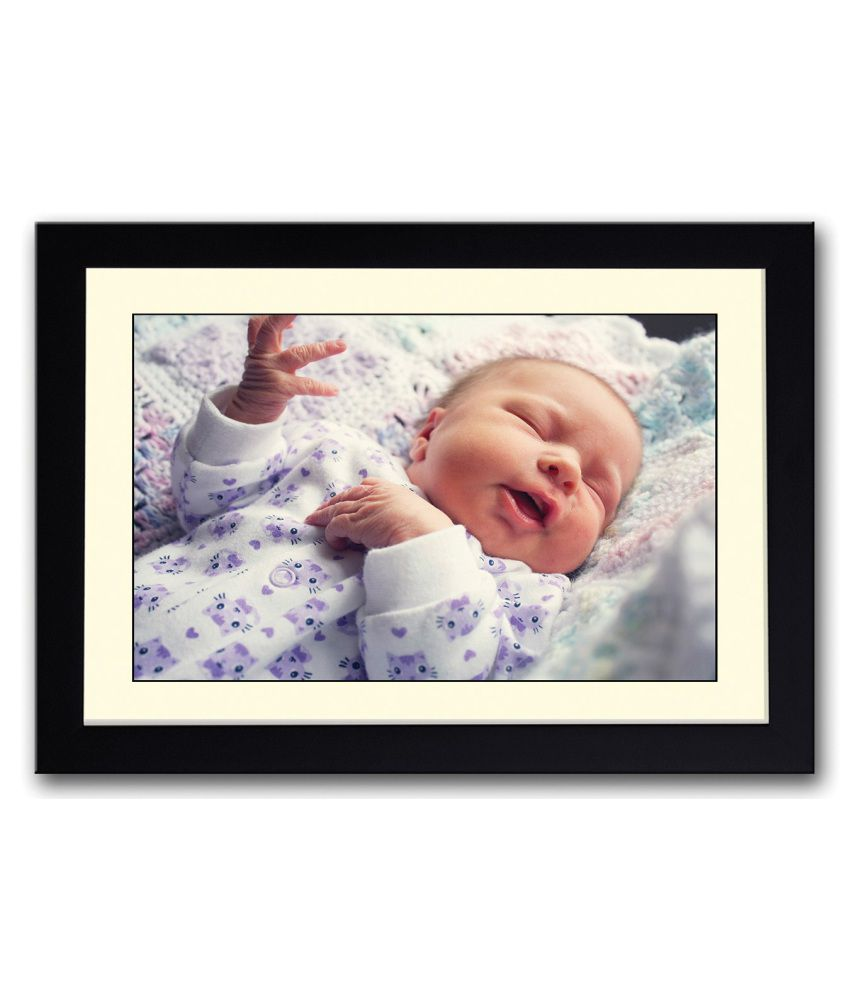 Artifa Matte Baby Funny Expression Painting With Wood Frame