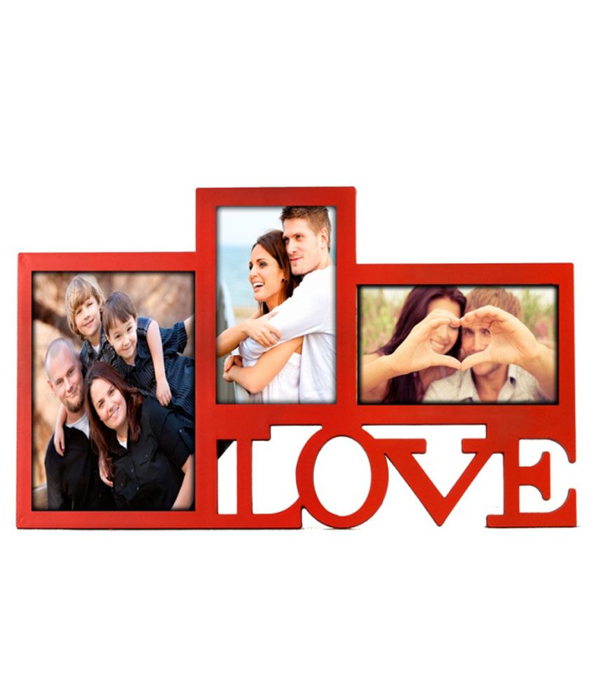 Deep Love Collage 3 in one photo frame Red: Buy Deep Love Collage ...
