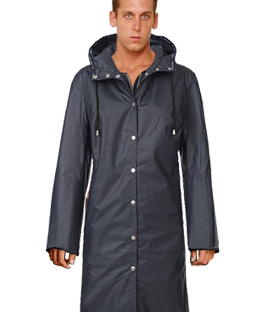 Gledati Black Polyester Combo Of Raincoat, Comb & Towel Handkerchief