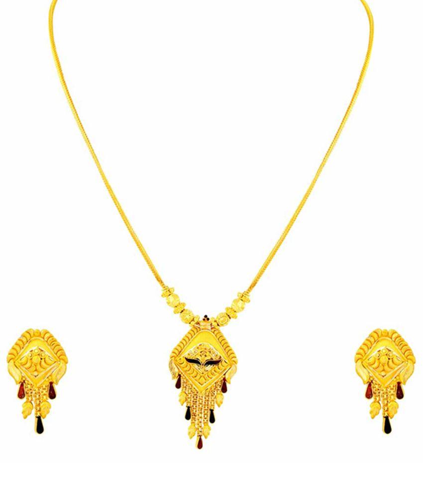 Parshavnath Gold 22kt Gold Necklace Set