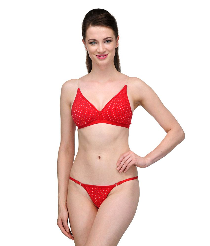 26bb1b4ca7 Buy URBAANO Red Bra   Panty Sets Online at Best Prices in India - Snapdeal