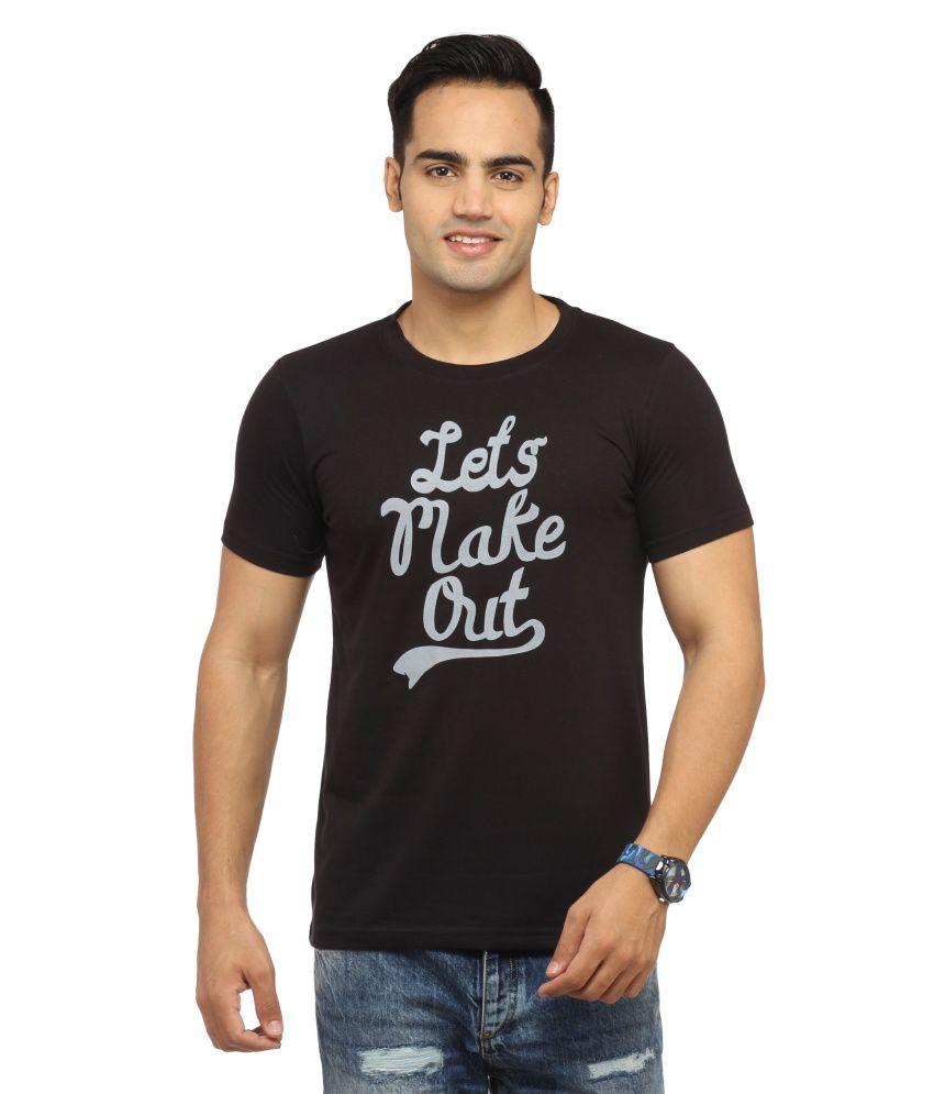 Big Bad Bull Black Cotton Printed T Shirt