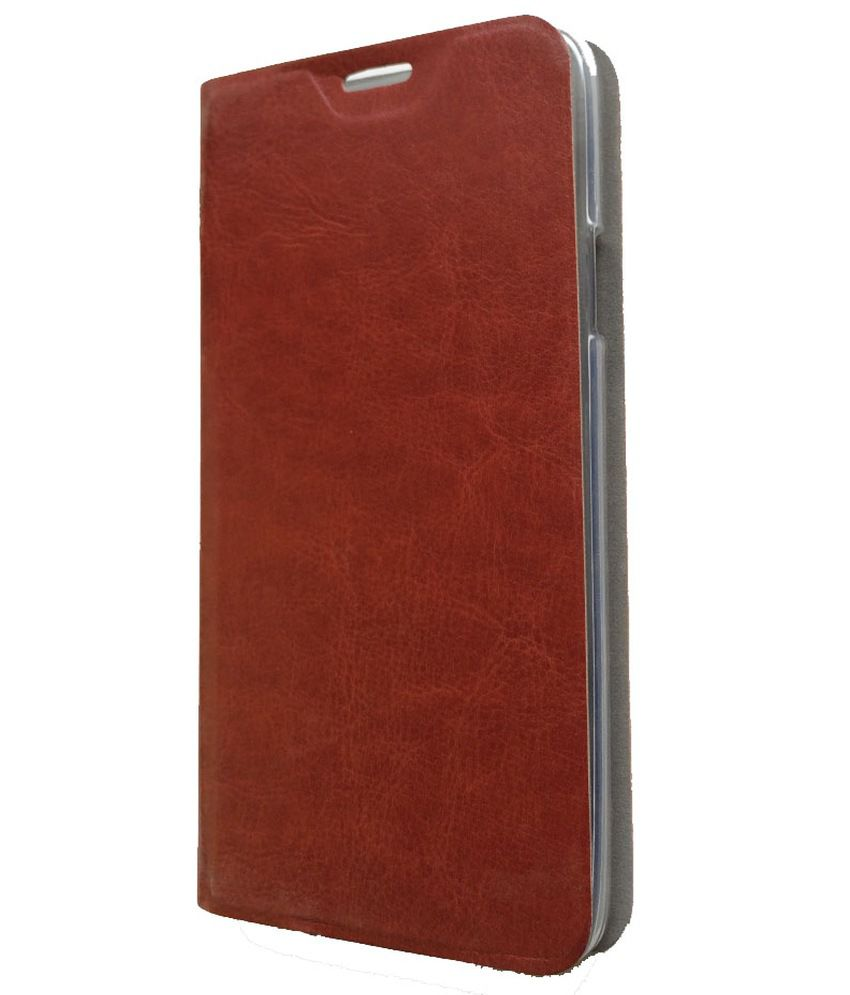 brand new 9839a cda1f Koko Vintage Leather Flip Cover For Infocus M530 - Brown
