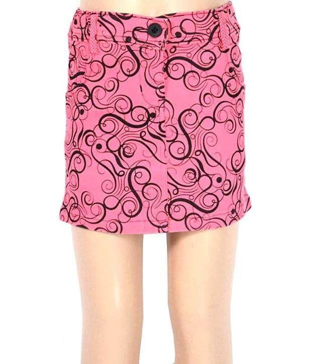 Mcdees Pink Digital Print Skirts