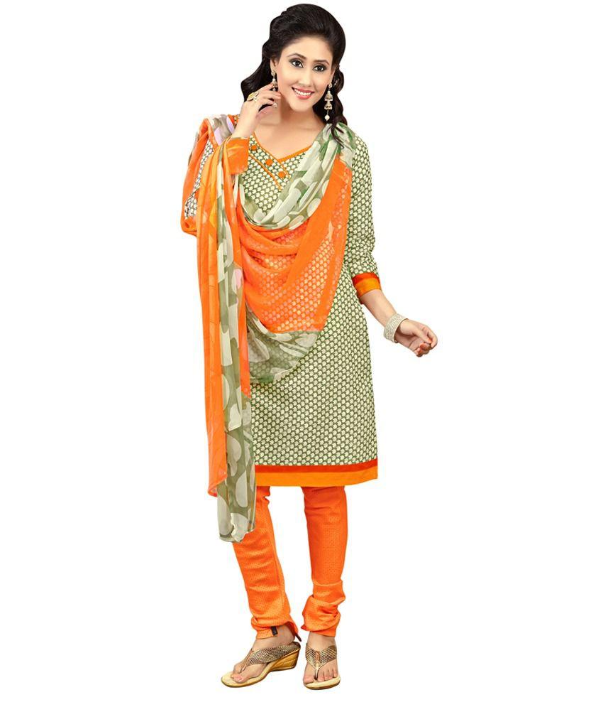 Parisha Multi Crepe Jacquard Unstitched Dress Material