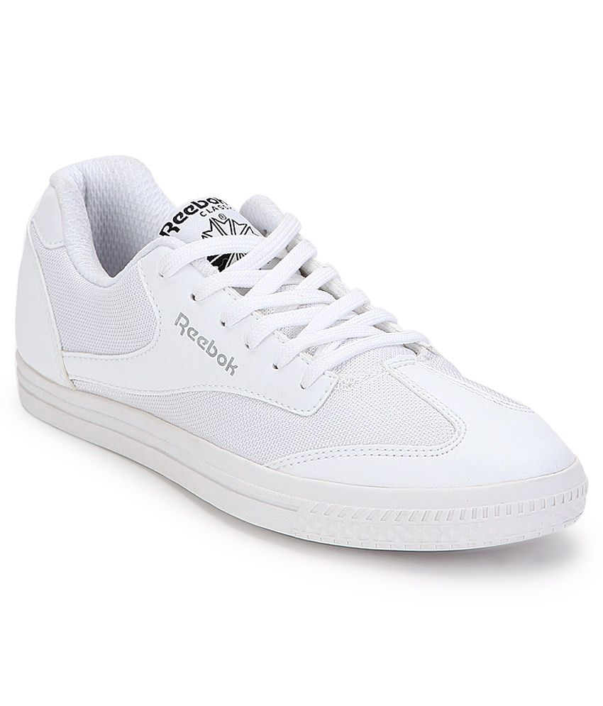 f619e9792332 Reebok White Sneaker Shoes - Buy Reebok White Sneaker Shoes Online at Best  Prices in India on Snapdeal
