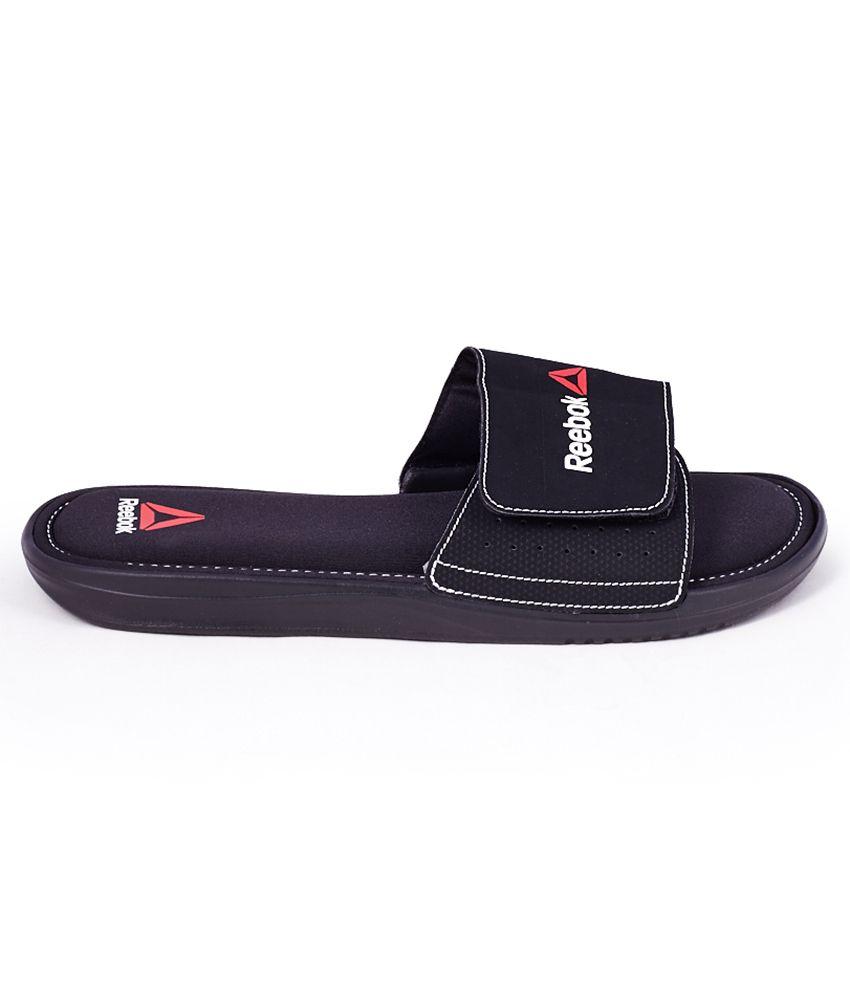 06882b9b7 Reebok Comfort Slide Black Slippers Price in India- Buy Reebok ...