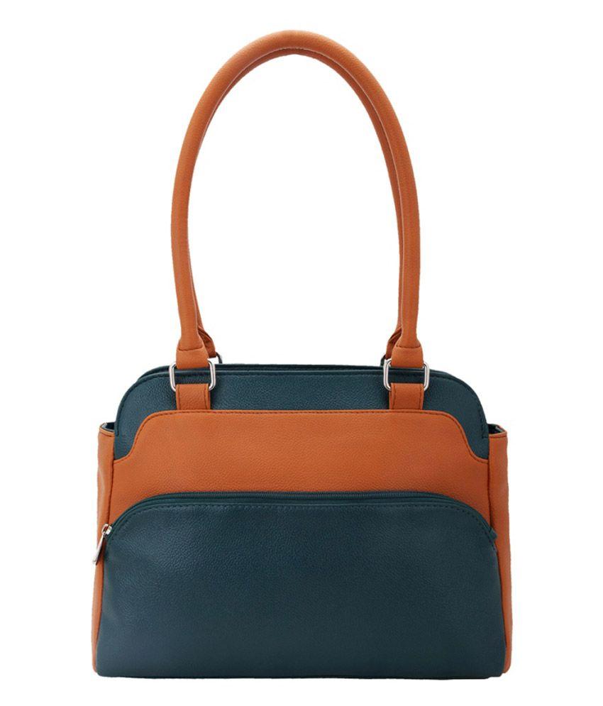 Bagy Malone Green Verdant Bronze Shoulder Bag