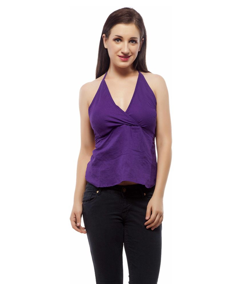 fa5b1be6965aaa Buy Indi Bargain Cotton Purple Beach Dresses Online at Best Prices in India  - Snapdeal