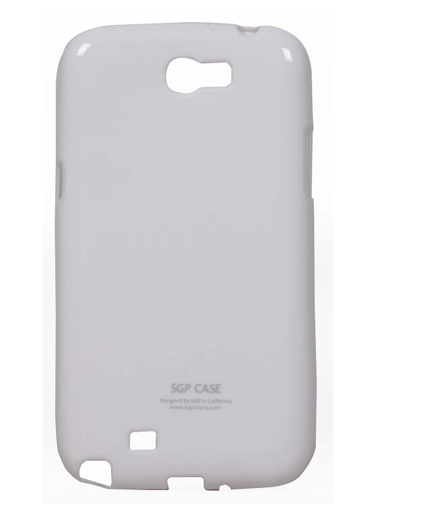 Jkobi Silicon Soft Back Case Cover For Samsung Galaxy Note 2 N7100 - White
