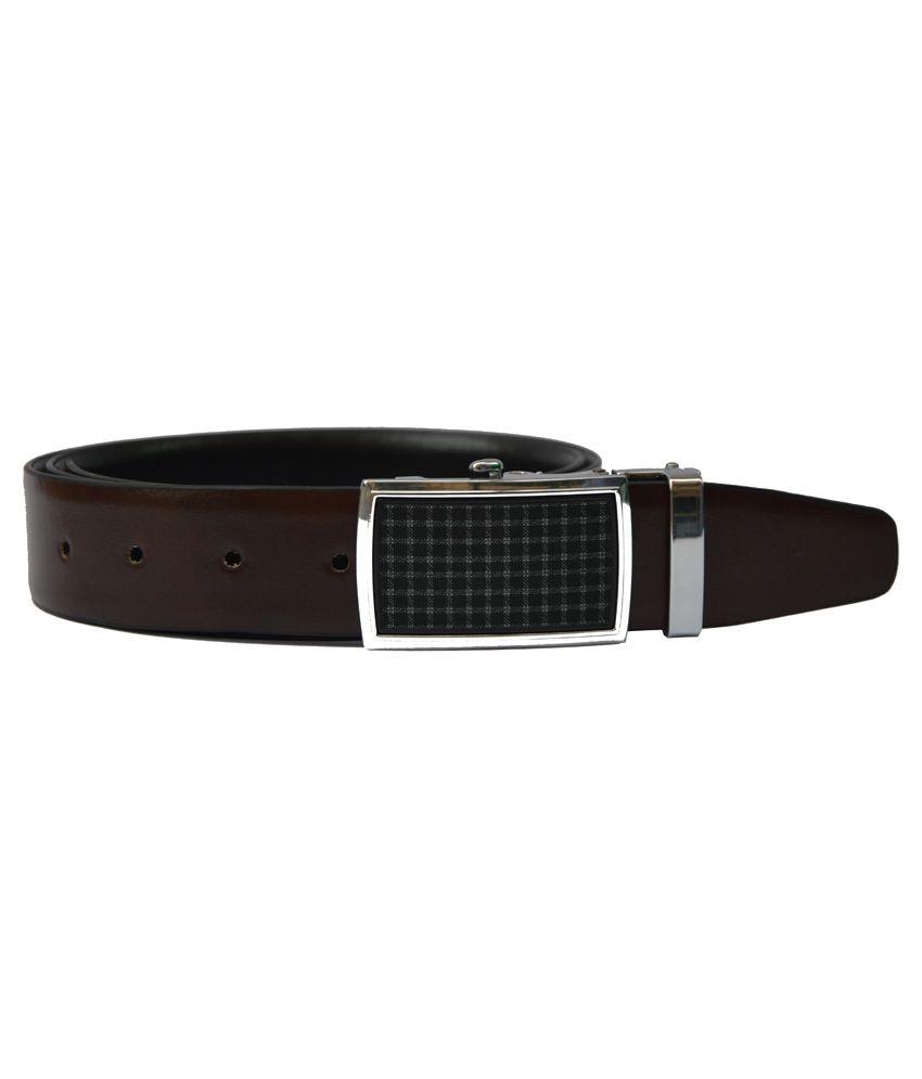 Dennison Brown and Black Reversible Leather Belt For Men