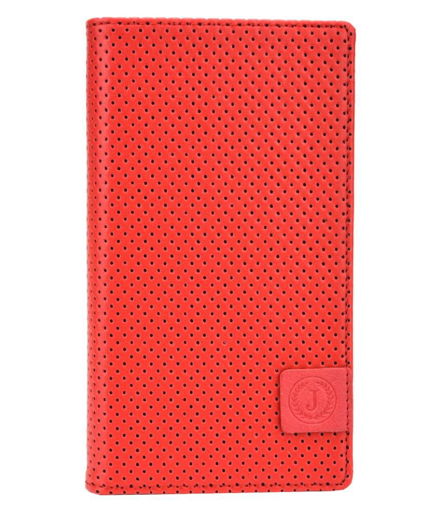 Jo Jo Flip Cover For Samsung Galaxy Grand Duos I9082 - Red & Black