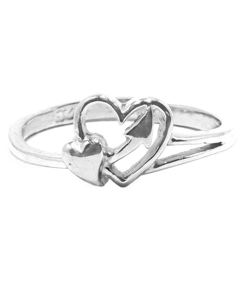 Manglam Silver Style Diva Toe Ring