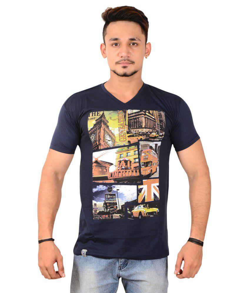 Union Militare Navy Cotton T-Shirt