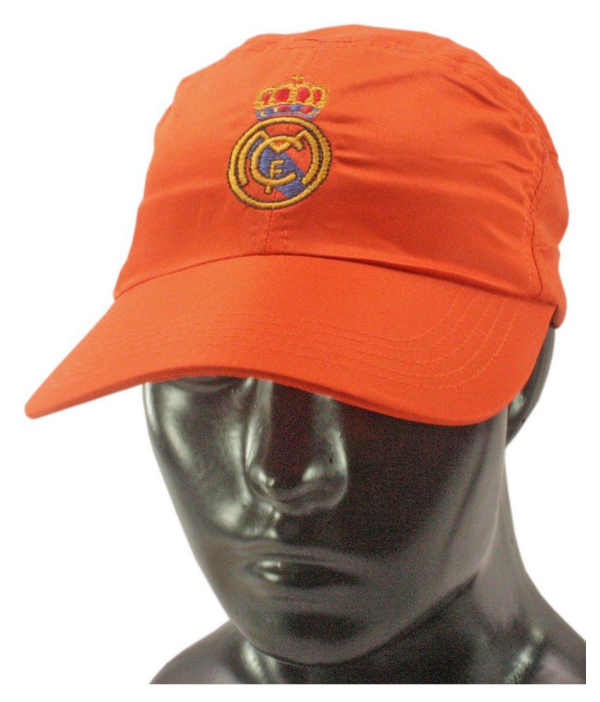 JM Orange Cotton Casual Cap