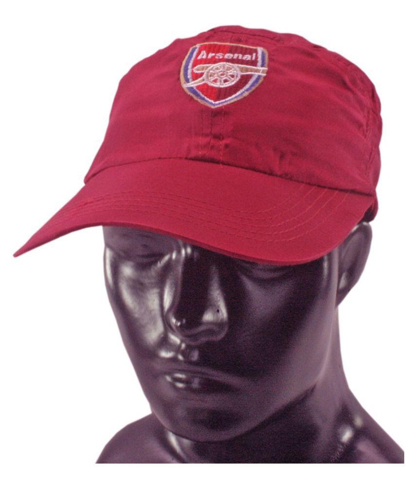 JM Red Cotton Casual Cap