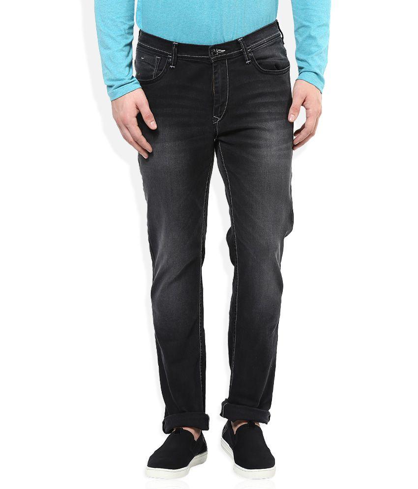 Lee Black Medium Wash Tapered Fit Jeans