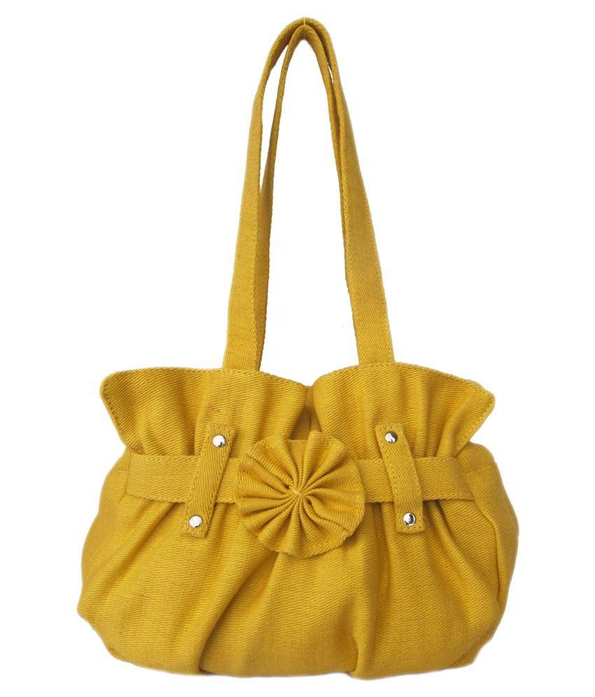 Jutecentral Yellow Shoulder Bag