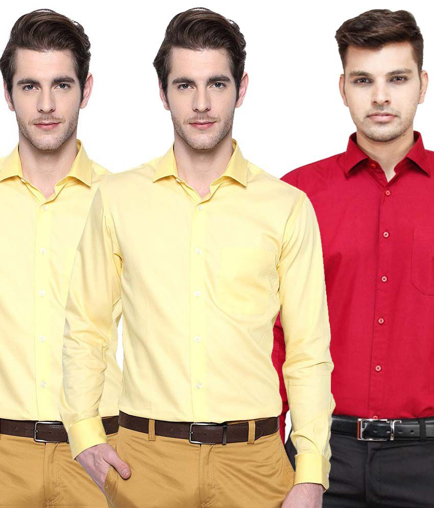50dc835c48e Mod Apparels Link Multi Formal Shirt Pack of 3 - Buy Mod Apparels Link  Multi Formal Shirt Pack of 3 Online at Best Prices in India on Snapdeal