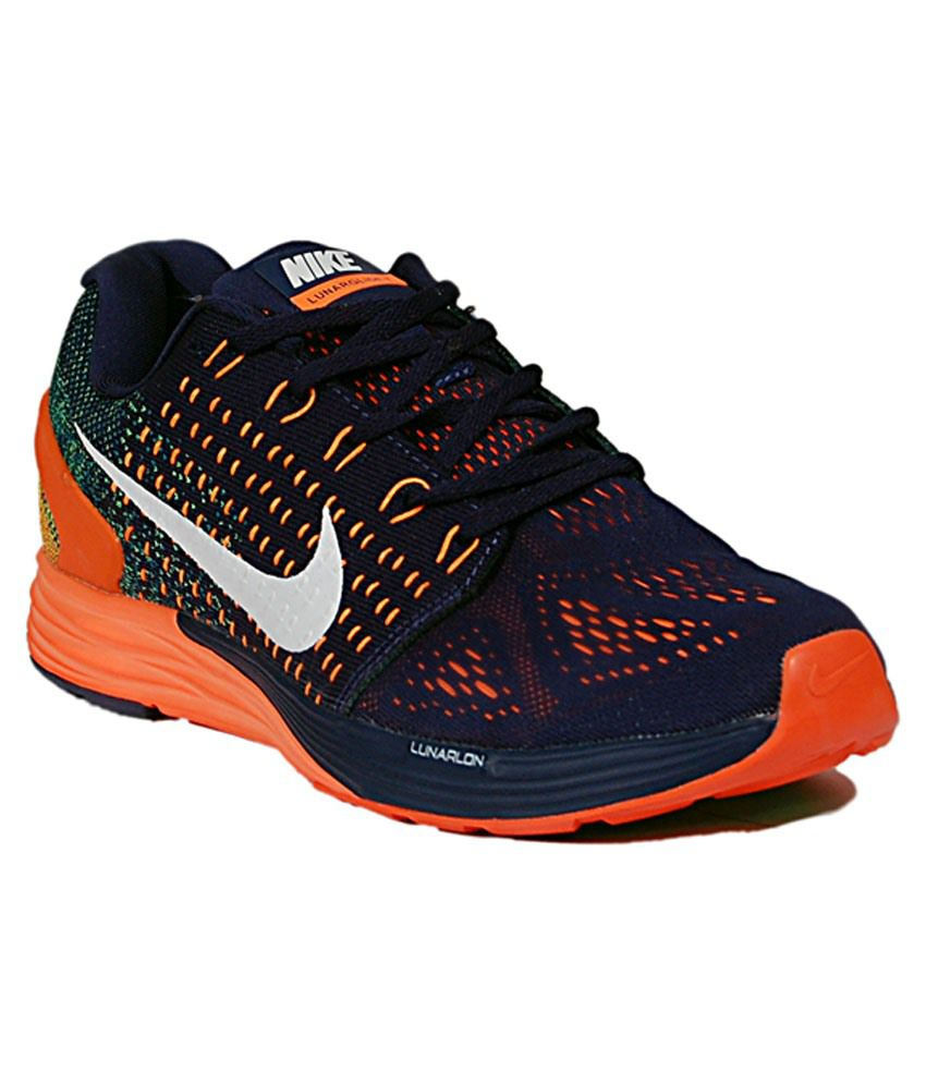 Nike Black & Orange Sports Shoes