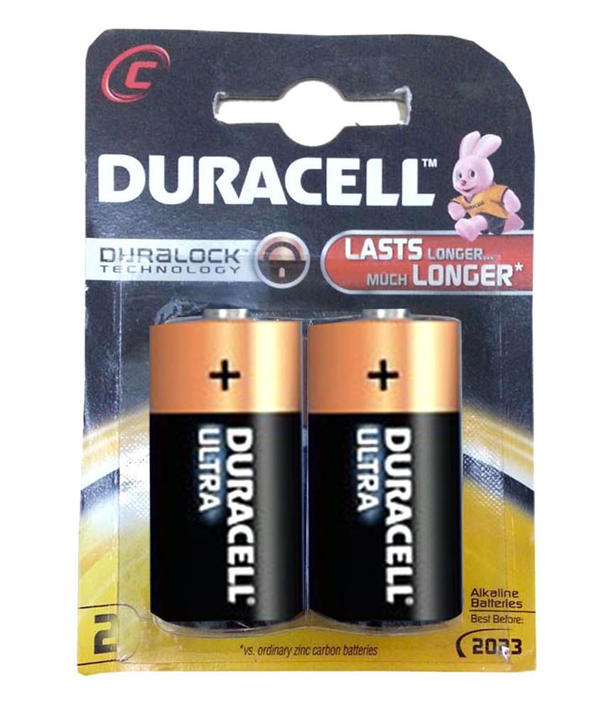 Duracell C Size Battery - Pack Of 2 Price in India- Buy Duracell C ...