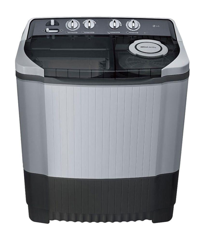 LG 7.5 Kg P8539R3SM DG Semi Automatic Top Load Washing Machine Dark Gray