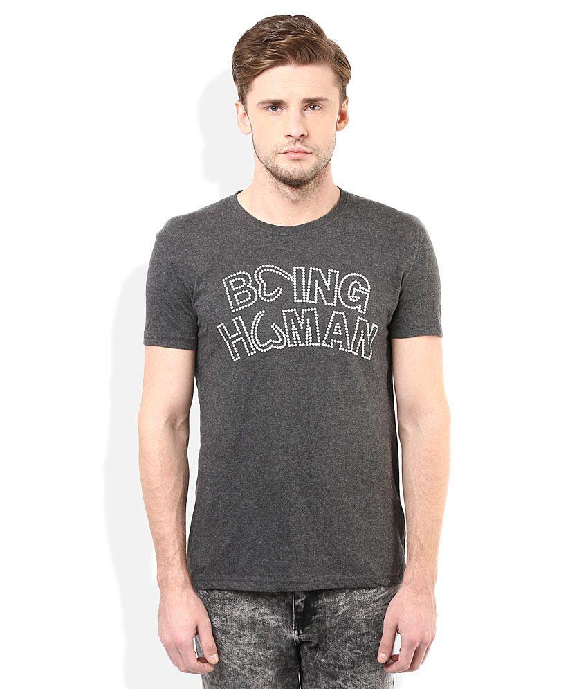 Being Human Grey Round Neck T-Shirt