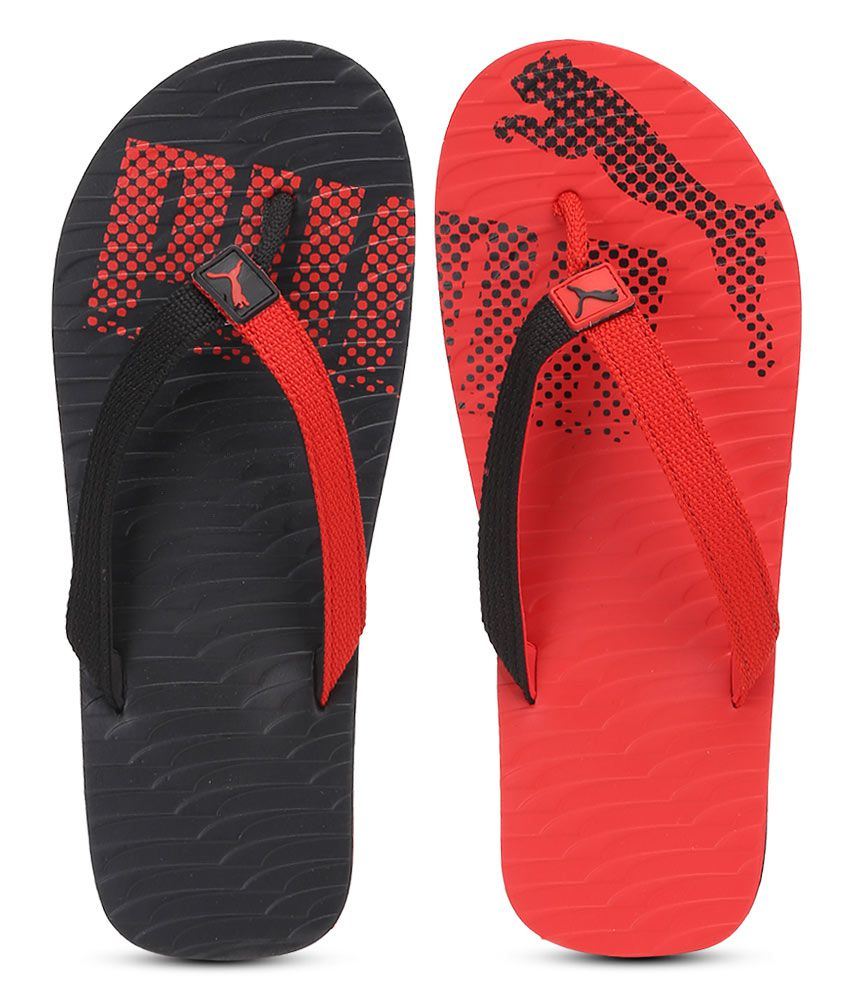 c4a8033bd4da Puma Miami Fashion Red Flip Flops Price in India- Buy Puma Miami Fashion  Red Flip Flops Online at Snapdeal