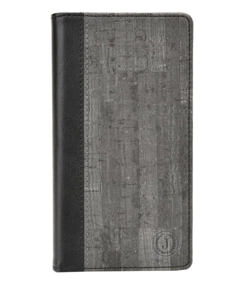 Jo Jo Flip Cover For Karbonn A91 - Grey
