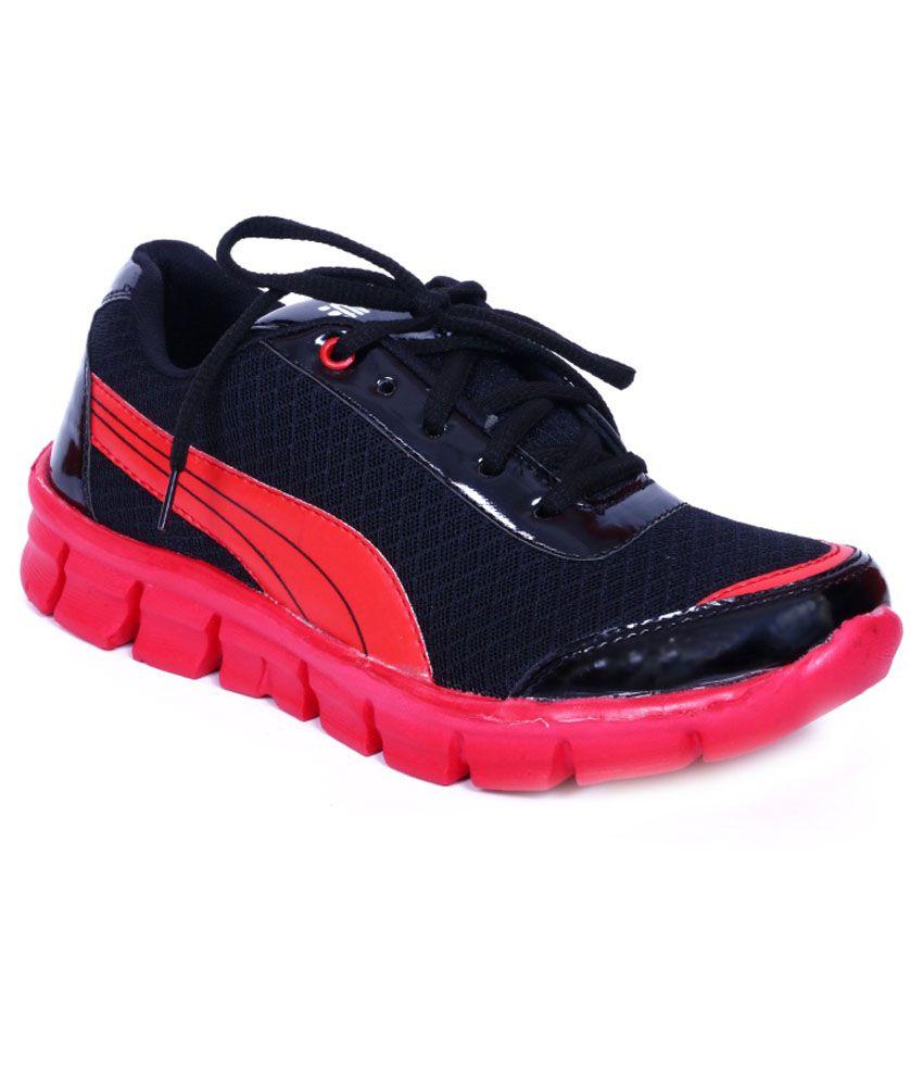 Adjoin Steps Black Sports Shoes - Buy Adjoin Steps Black ...