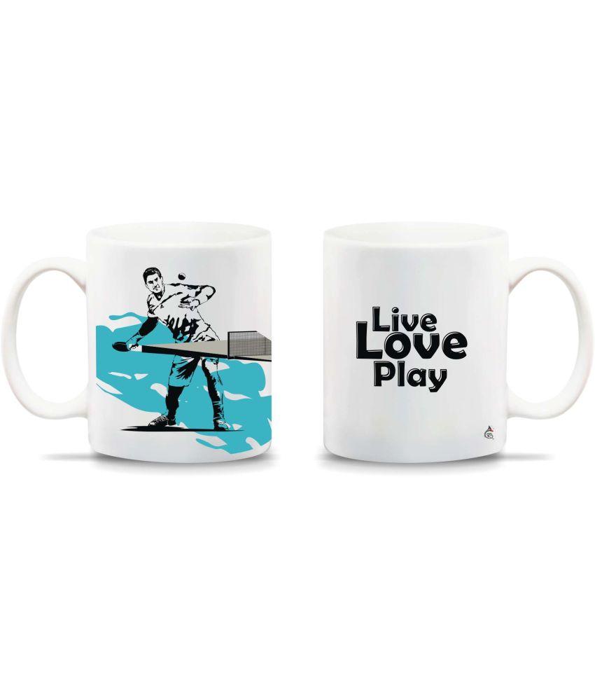 Chipka ke bol table tennis design ceramic mug buy online for Table ke design
