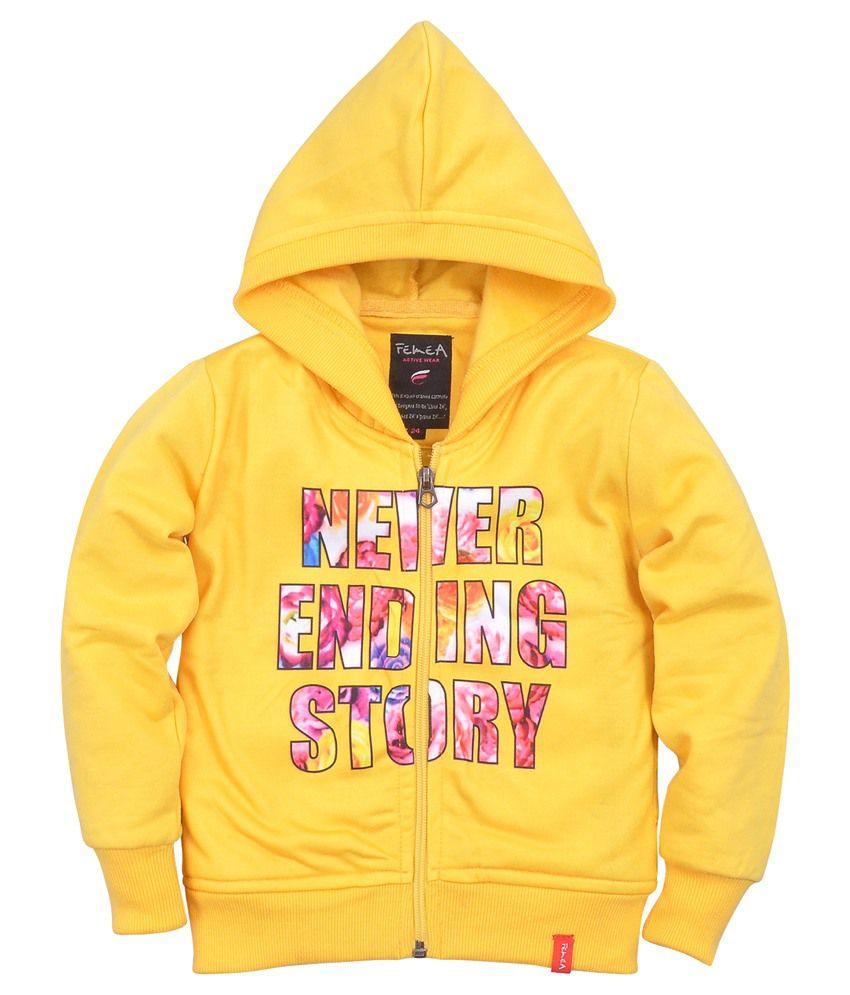 Femea Yellow Sweatshirt With Hood