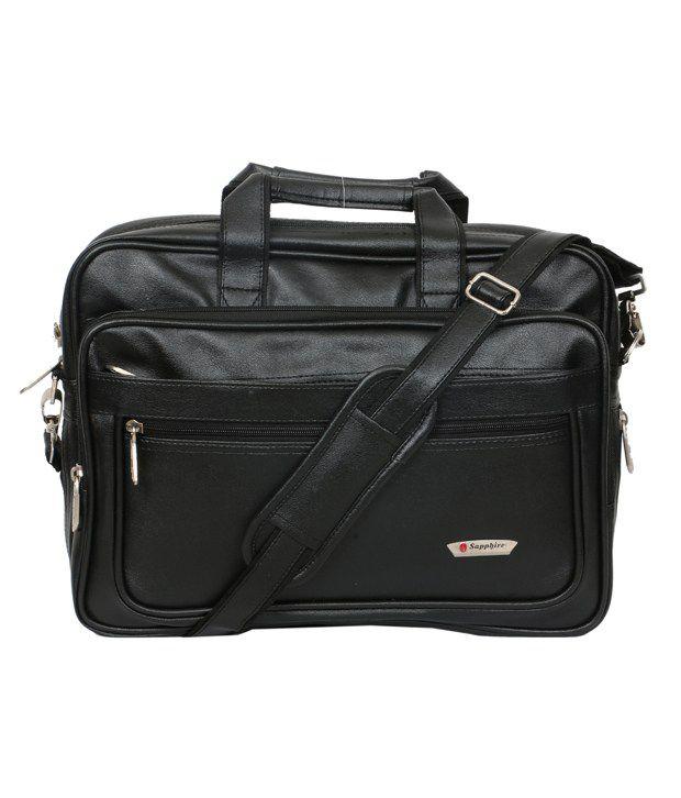 Sapphire Black Laptop Messenger Bag