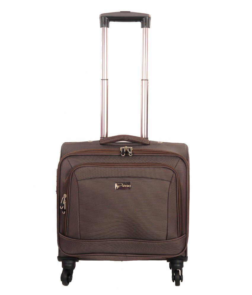 Sprint Nylon Overnighter Trolley Bag-Brown