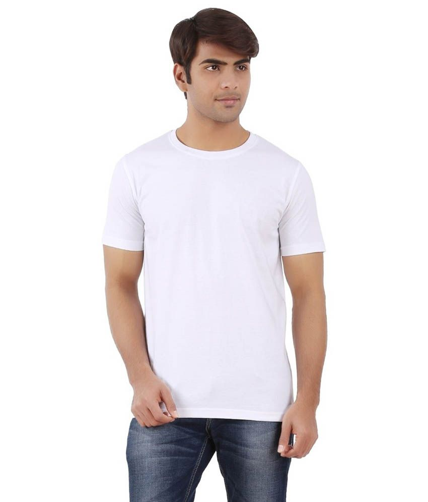 Attitude White 100 Percent Cotton T - Shirt