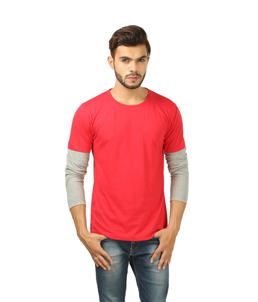 Brownbird Red Cotton T-shirt
