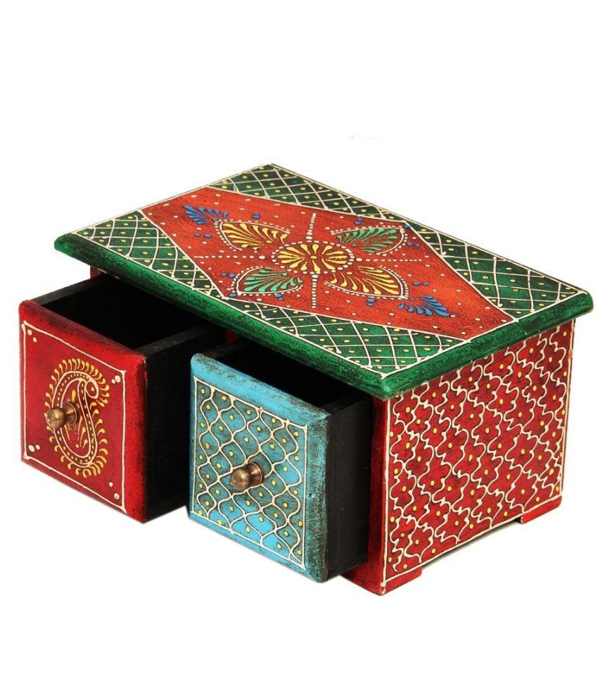 Deja Vu Beige Wood Horizontal Embossed Box