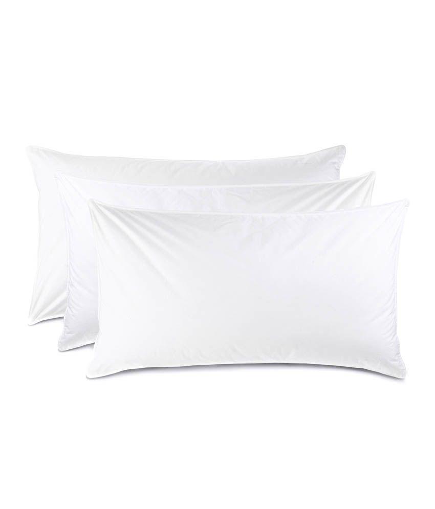 JDX White Fibre Pillows 42x60 - Pack Of 3