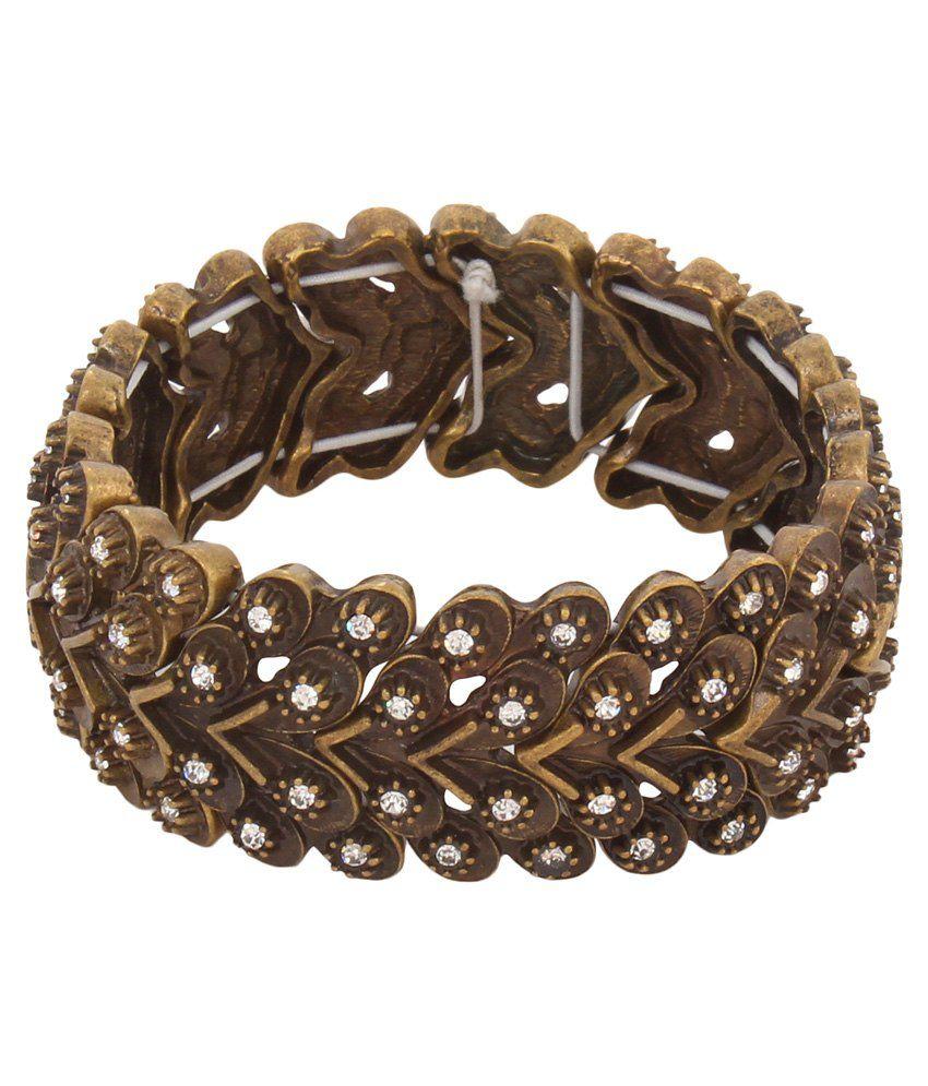 La Amber Bead Embellished Bracelet
