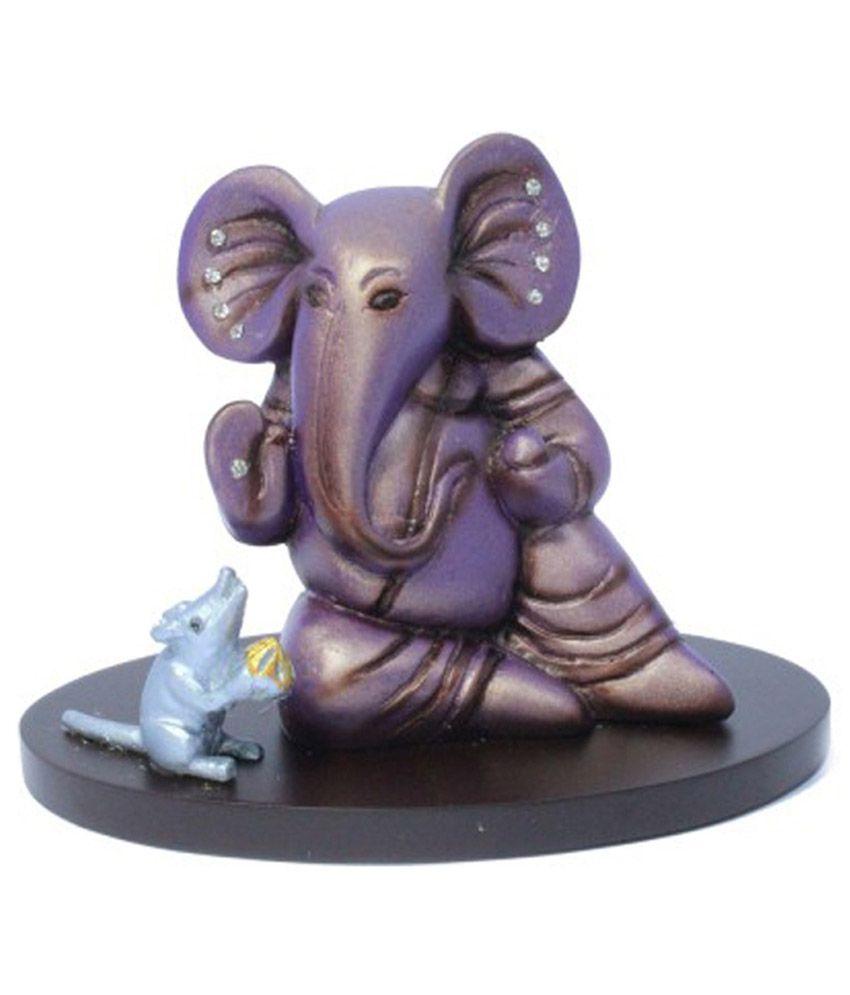 Shree Na Purple Resin Ganesha Idol