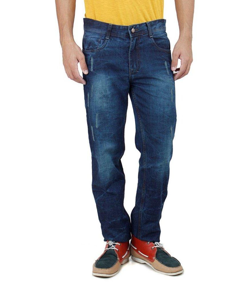Uber Urban Blue 100 Percent Cotton Men Jeans