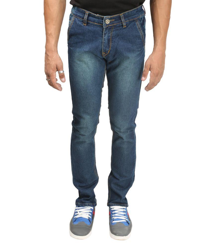 Back Side Blue Cotton Jeans
