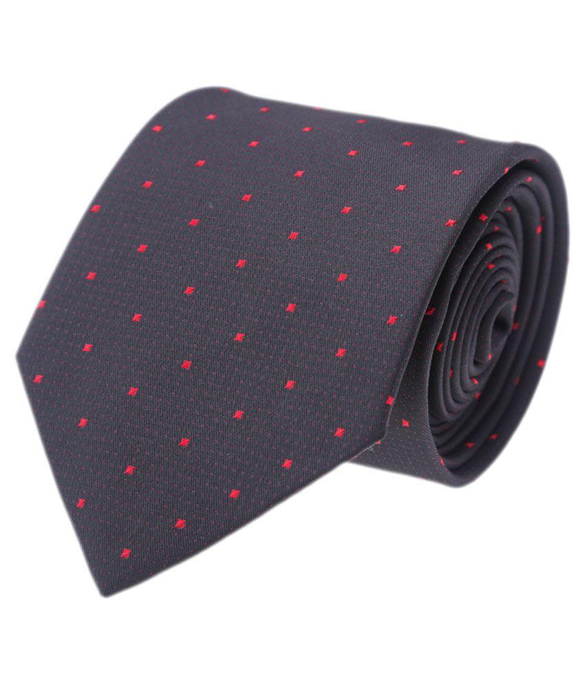 CooLife Black Formal Necktie