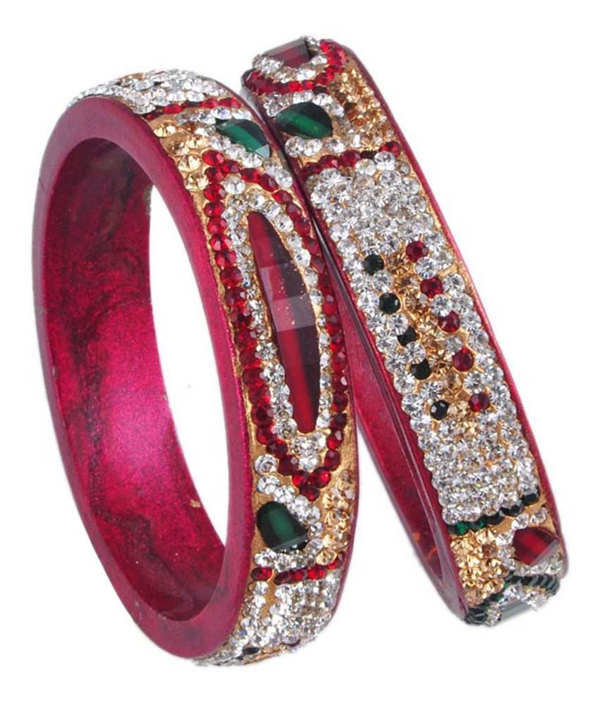 Ridhi Sidhi Collection Multicolour Brass Kada Set Pack Of 2