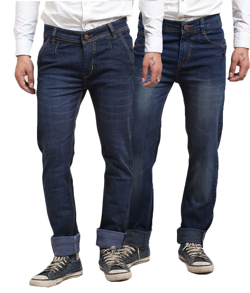 X-CROSS Blue Regular Fit Jeans Pack Of 2