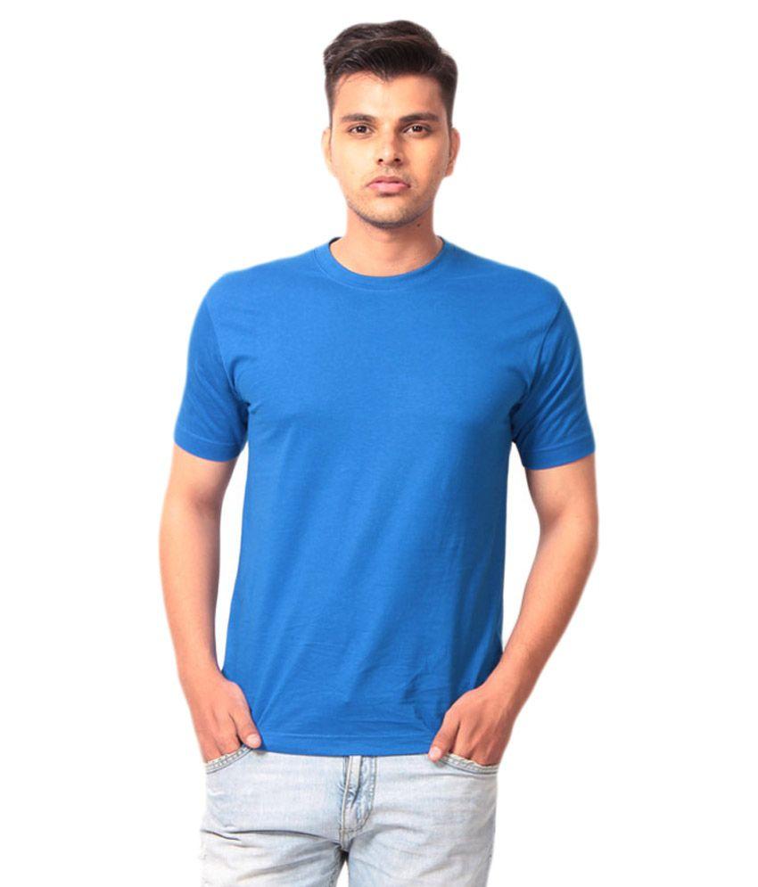 Allen Glow Blue Cotton T Shirt