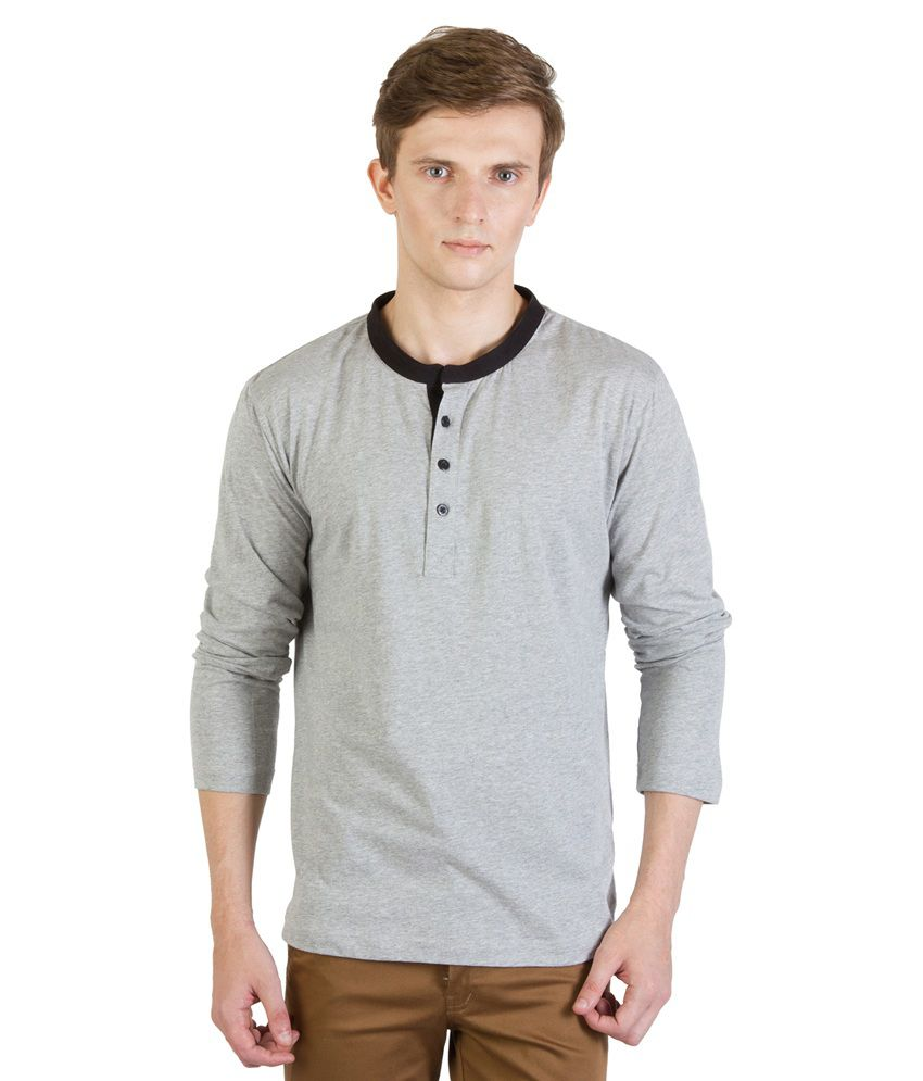 Rigo Gray Cotton T - Shirt