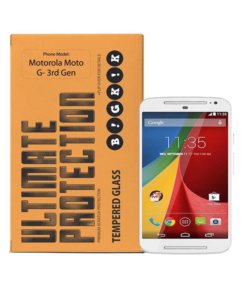 Motorola Moto 3Rd Gen Tempered Glass Screen Guard by Bigkik