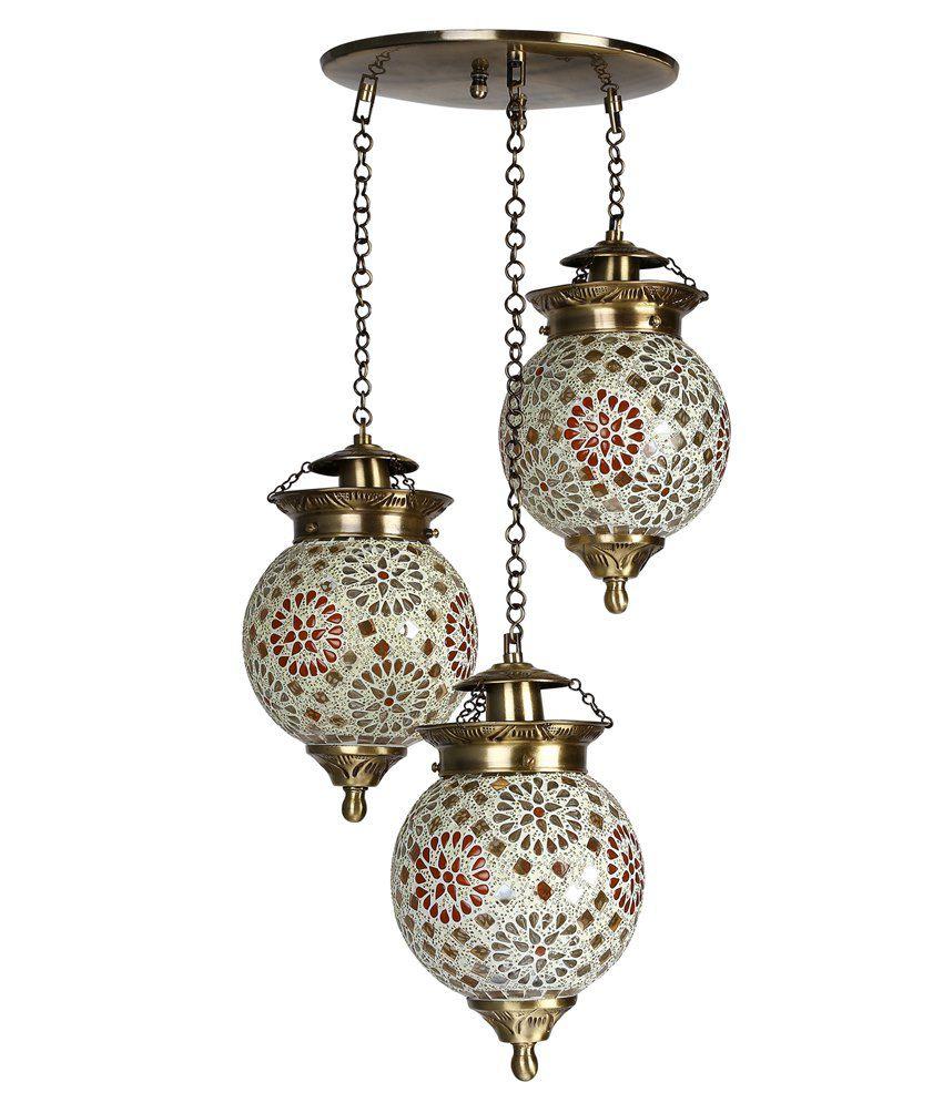Fos Lighting Chandni Tilak Set Of 3 Hanging Lights: Buy